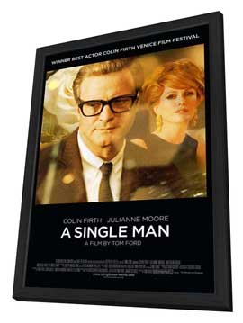 A Single Man - 27 x 40 Movie Poster - Style A - in Deluxe Wood Frame