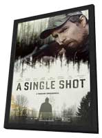A Single Shot - 11 x 17 Movie Poster - Style B - in Deluxe Wood Frame