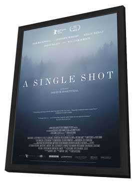 A Single Shot - 27 x 40 Movie Poster - Style A - in Deluxe Wood Frame