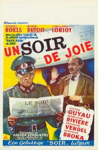 A 'Soir' Full of Joy - 27 x 40 Movie Poster - Belgian Style A