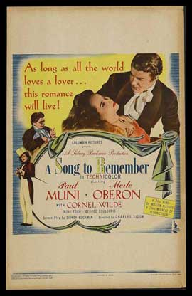 A Song to Remember - 11 x 17 Movie Poster - Style A