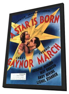 A Star Is Born - 11 x 17 Movie Poster - Style A - in Deluxe Wood Frame
