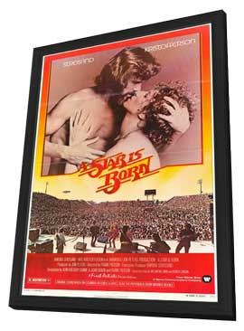 A Star Is Born - 27 x 40 Movie Poster - Style B - in Deluxe Wood Frame