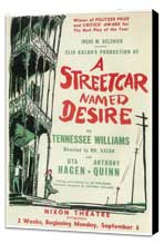 A Streetcar Named Desire (Broadway) - 11 x 17 Poster - Style A - Museum Wrapped Canvas