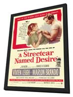 A Streetcar Named Desire - 11 x 17 Movie Poster - Style A - in Deluxe Wood Frame