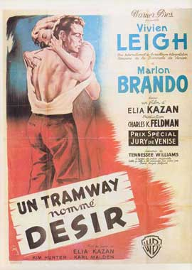A Streetcar Named Desire - 27 x 40 Movie Poster - French Style A