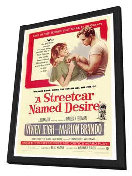 A Streetcar Named Desire - 27 x 40 Movie Poster - Style A - in Deluxe Wood Frame