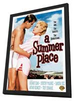 A Summer Place - 27 x 40 Movie Poster - Style A - in Deluxe Wood Frame