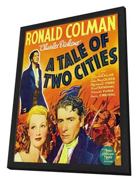 A Tale of Two Cities - 11 x 17 Movie Poster - Style B - in Deluxe Wood Frame
