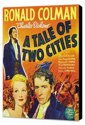 A Tale of Two Cities - 11 x 17 Movie Poster - Style B - Museum Wrapped Canvas