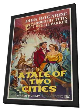 A Tale of Two Cities - 11 x 17 Movie Poster - Style A - in Deluxe Wood Frame