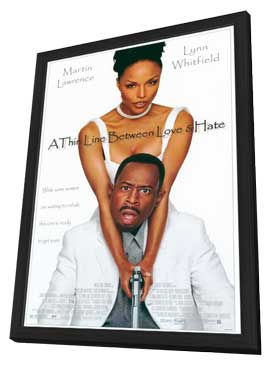 A Thin Line Between Love and Hate - 11 x 17 Movie Poster - Style A - in Deluxe Wood Frame