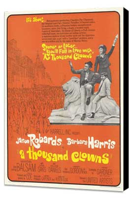 A Thousand Clowns - 11 x 17 Movie Poster - Style B - Museum Wrapped Canvas