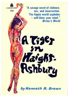 A Tiger in Haight-Ashbury - 11 x 17 Retro Book Cover Poster