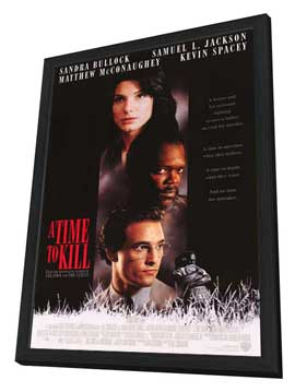 A Time to Kill - 27 x 40 Movie Poster - Style A - in Deluxe Wood Frame