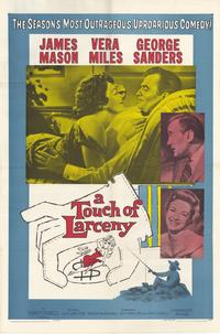 A Touch of Larceny - 27 x 40 Movie Poster - Style A