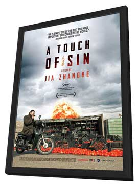 A Touch of Sin - 11 x 17 Movie Poster - Style A - in Deluxe Wood Frame