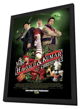 A Very Harold & Kumar Christmas - 11 x 17 Poster in Deluxe Wood Frame