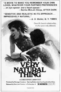 A Very Natural Thing - 11 x 17 Movie Poster - Style A