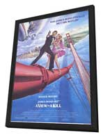 A View to a Kill - 11 x 17 Movie Poster - Style B - in Deluxe Wood Frame