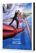 A View to a Kill - 27 x 40 Movie Poster - Style A - Museum Wrapped Canvas
