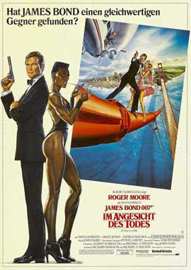 A View to a Kill - 11 x 17 Movie Poster - German Style A