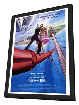 A View to a Kill - 27 x 40 Movie Poster - Style A - in Deluxe Wood Frame