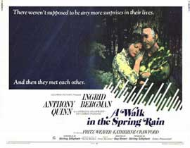 A Walk in the Spring Rain - 11 x 14 Movie Poster - Style A