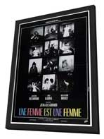A Woman Is a Woman - 27 x 40 Movie Poster - French Style A - in Deluxe Wood Frame