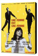 A Woman Is a Woman - 11 x 17 Movie Poster - French Style A - Museum Wrapped Canvas