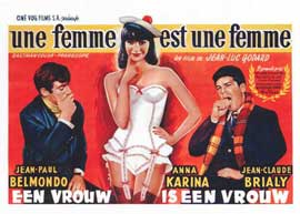 A Woman Is a Woman - 14 x 22 Movie Poster - Belgian Style A