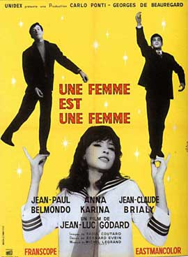 A Woman Is a Woman - 27 x 40 Movie Poster - French Style B
