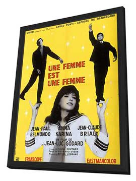 A Woman Is a Woman - 11 x 17 Movie Poster - French Style A - in Deluxe Wood Frame