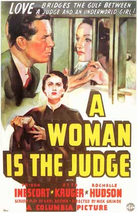 A Woman is the Judge - 11 x 17 Movie Poster - Style A
