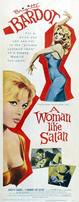 A Woman Like Satan - 14 x 36 Movie Poster - Insert Style A