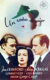 A Woman's Face - 11 x 17 Movie Poster - Spanish Style A
