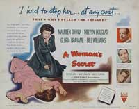 A Woman's Secret - 11 x 14 Movie Poster - Style A
