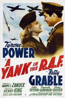 A Yank in the R.A.F. - 27 x 40 Movie Poster - Style B