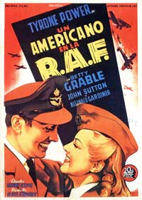 A Yank in the R.A.F. - 27 x 40 Movie Poster - Spanish Style A