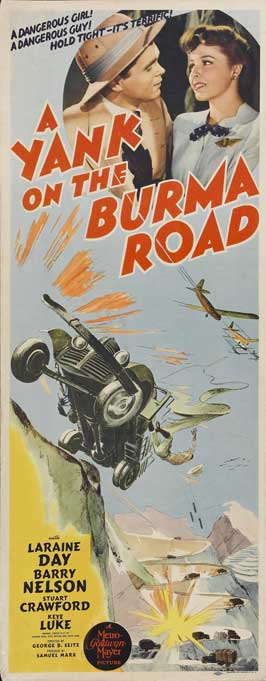A Yank on the Burma Road - 14 x 36 Movie Poster - Insert Style A
