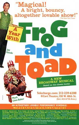 A Year With Frog and Toad (Broadway) - 27 x 40 Poster - Style A