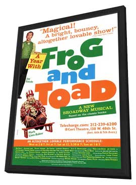 A Year With Frog and Toad (Broadway) - 11 x 17 Poster - Style A - in Deluxe Wood Frame