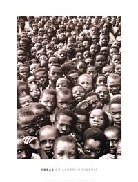 Abbas Children In Nigeria - Art Poster - 24 x 32 - Style A