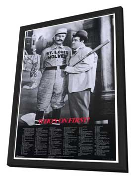 Abbott & Costello - Who's On First - 27 x 40 Movie Poster - Style A - in Deluxe Wood Frame