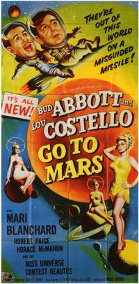 Abbott and Costello Go to Mars - 11 x 17 Movie Poster - Style B