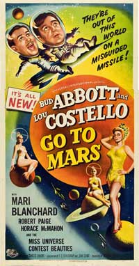 Abbott and Costello Go to Mars - 20 x 40 Movie Poster - Style A