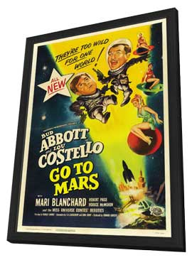 Abbott and Costello Go to Mars - 27 x 40 Movie Poster - Style A - in Deluxe Wood Frame