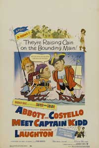 Abbott and Costello Meet Captain Kidd - 27 x 40 Movie Poster - Style A