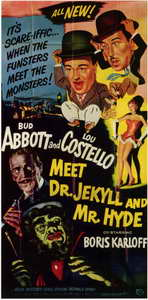 Abbott and Costello Meet Dr. Jekyll and Mr. Hyde - 11 x 17 Movie Poster - Style B