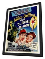 Abbott and Costello Meet Dr. Jekyll and Mr. Hyde - 27 x 40 Movie Poster - Style A - in Deluxe Wood Frame